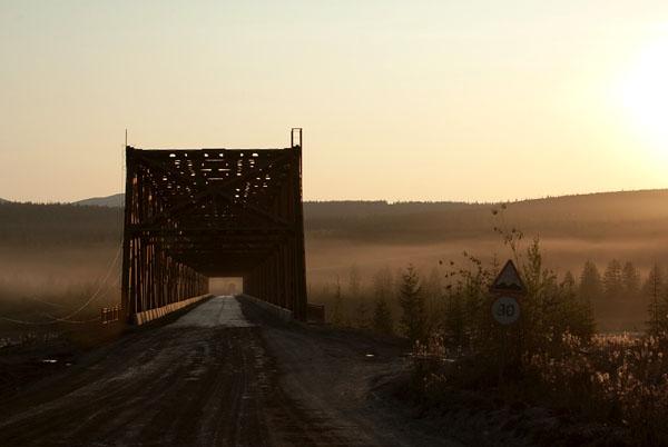 Перед нами мост через р. Колыма